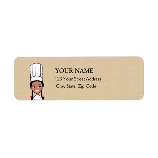African American Baker Return Address Label