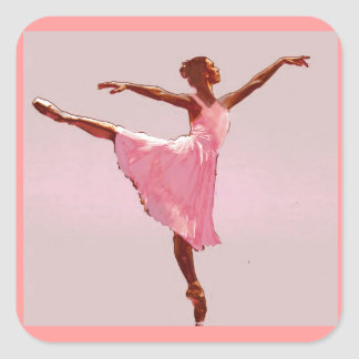 african american ballerina sticker