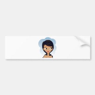 African American beauty Bumper Sticker