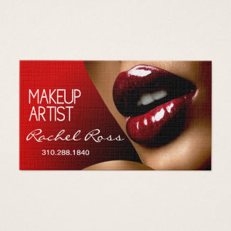 African American Big Glossy Lips | red Business Card