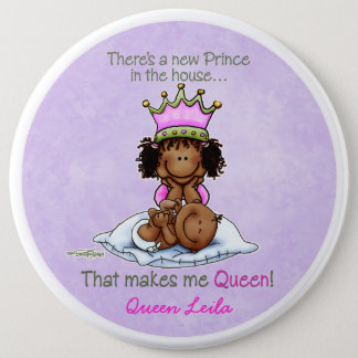 African American Big Sister of Prince 6 Cm Round Badge