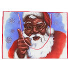 African American Black Santa Claus Christmas Large Gift Bag