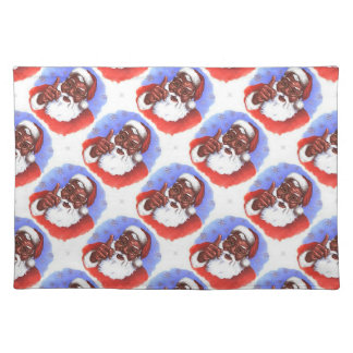 African American Black Santa Claus Christmas Placemat