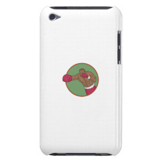 African-American Boxer Right Hook Circle Drawing Barely There iPod Case