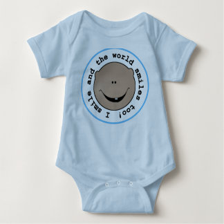 African American Boy I Smile Baby Bodysuit