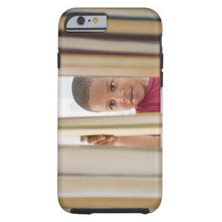 African American boy selecting book Tough iPhone 6 Case