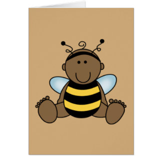 African American Bumble Bee Baby Card