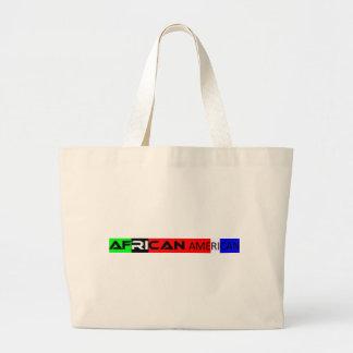 African American Bumper Sticker Canvas Bags