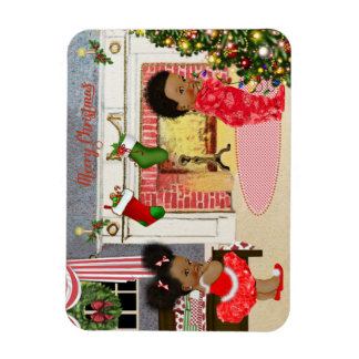 African American Child Christmas Magnet