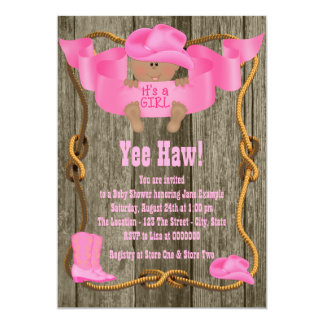 African American Cowgirl Baby Shower Card