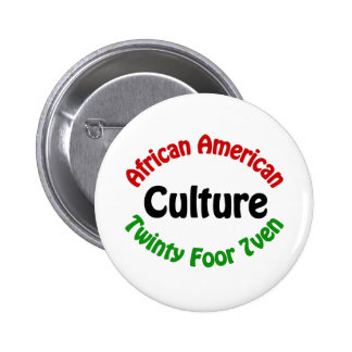 African American Culture 6 Cm Round Badge