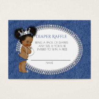 African American Denim & Diamonds Diaper Raffle Business Card