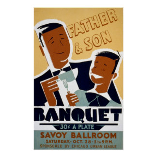 African American Father's Day & Son Banquet Posters