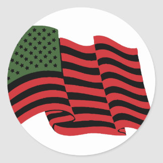 African American Flag Classic Round Sticker