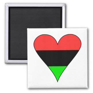 African American Flag Heart Magnet