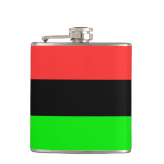 African American Flag Hip Flask