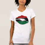 African American Flag Lips T Shirts