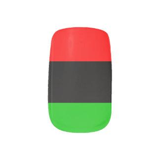 African American Flag Minx Nail Art