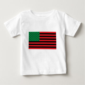 African American Flag - Red Black and Green Baby T-Shirt
