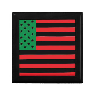 African American Flag - Red Black and Green Gift Box