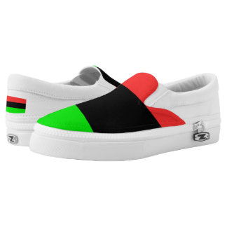 African American Flag Slip-On Shoes