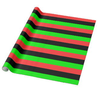 African American Flag Wrapping Paper