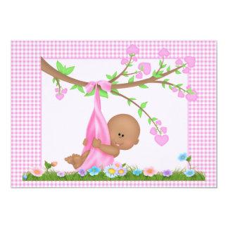African American Girl Baby Shower Invitation