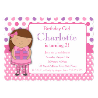 African American Girl Birthday Party Invitation