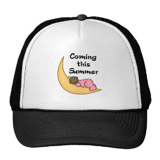 African American Girl on Moon Summer Cap