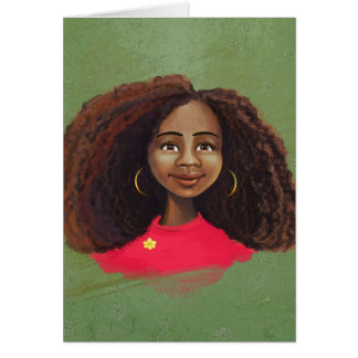 AFrican american girl portrait Card