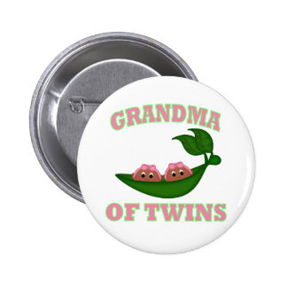 African American Grandma to Twins 6 Cm Round Badge