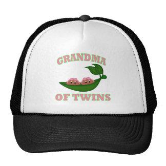 African American Grandma to Twins Trucker Hats