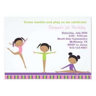African American Gymnastics Invitations