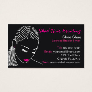 African American Hair Braider Salon Business Card