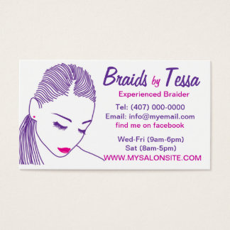 African American Hair Braiding Salon Business Card