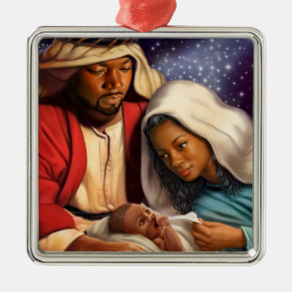 African American Holy Family Christmas Ornaments