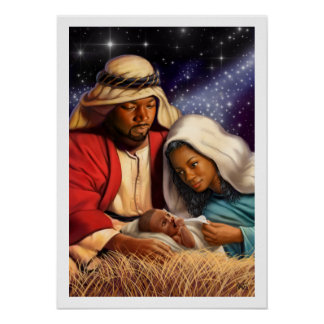 African American Holy Family Painting Art Prints