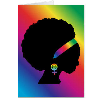 African American Lesbian Feminist All-Occasion Card