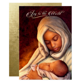 African American Madonna Flat Christmas Cards 13 Cm X 18 Cm Invitation Card