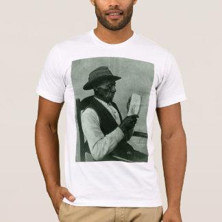 African-American Man Reading 'Harper's Ferry' T-Shirt