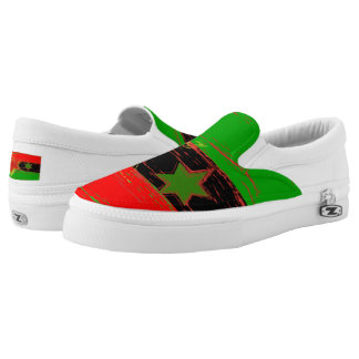 African American Marcus Garvey Slip on Shoes Printed Shoes
