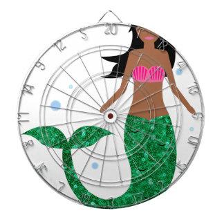 african american mermaid dartboard