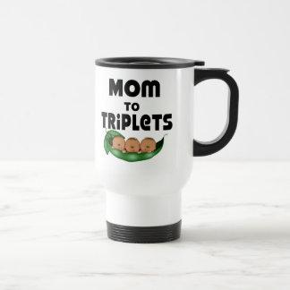 African American Mom to Triplets Coffee Mugs
