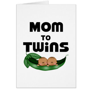 African American Mom to Twins Greeting Card