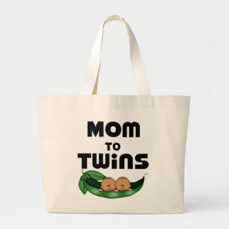 African American Mom to Twins Jumbo Tote Bag