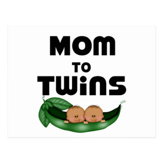 African American Mom to Twins Postcard