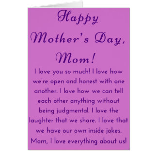 African American Mother's Day Card for Mom