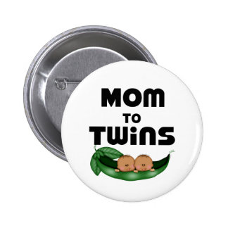 African American Mum to Twins Button