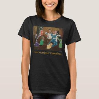 African American Praying Grandmother Church Art T-Shirt