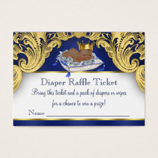 African American Prince Diaper Raffle Tickets